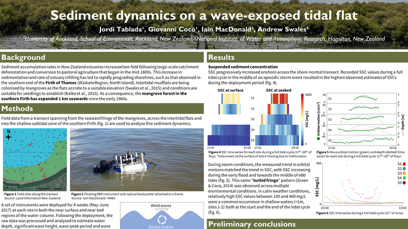 Sediment dynamics on a wave-exposed tidal flat
